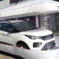 The safety bubble is nothing but a big plastic wall chamber which will prevent the car from unwanted touches and thus reducing the chances of covid-19 spread.